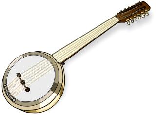 トルコの楽器 ジュンブシュ / Turkish stringed instrument.Cumbus Cümbüş