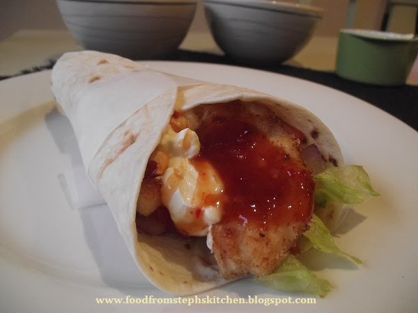 Crispy chicken and sweet chilli wraps - Steph's Kitchen