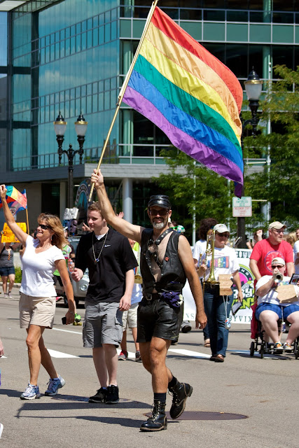 Michigan Pride March to the Capitol 2013, Lansing. by Tammy Sue Allen.
