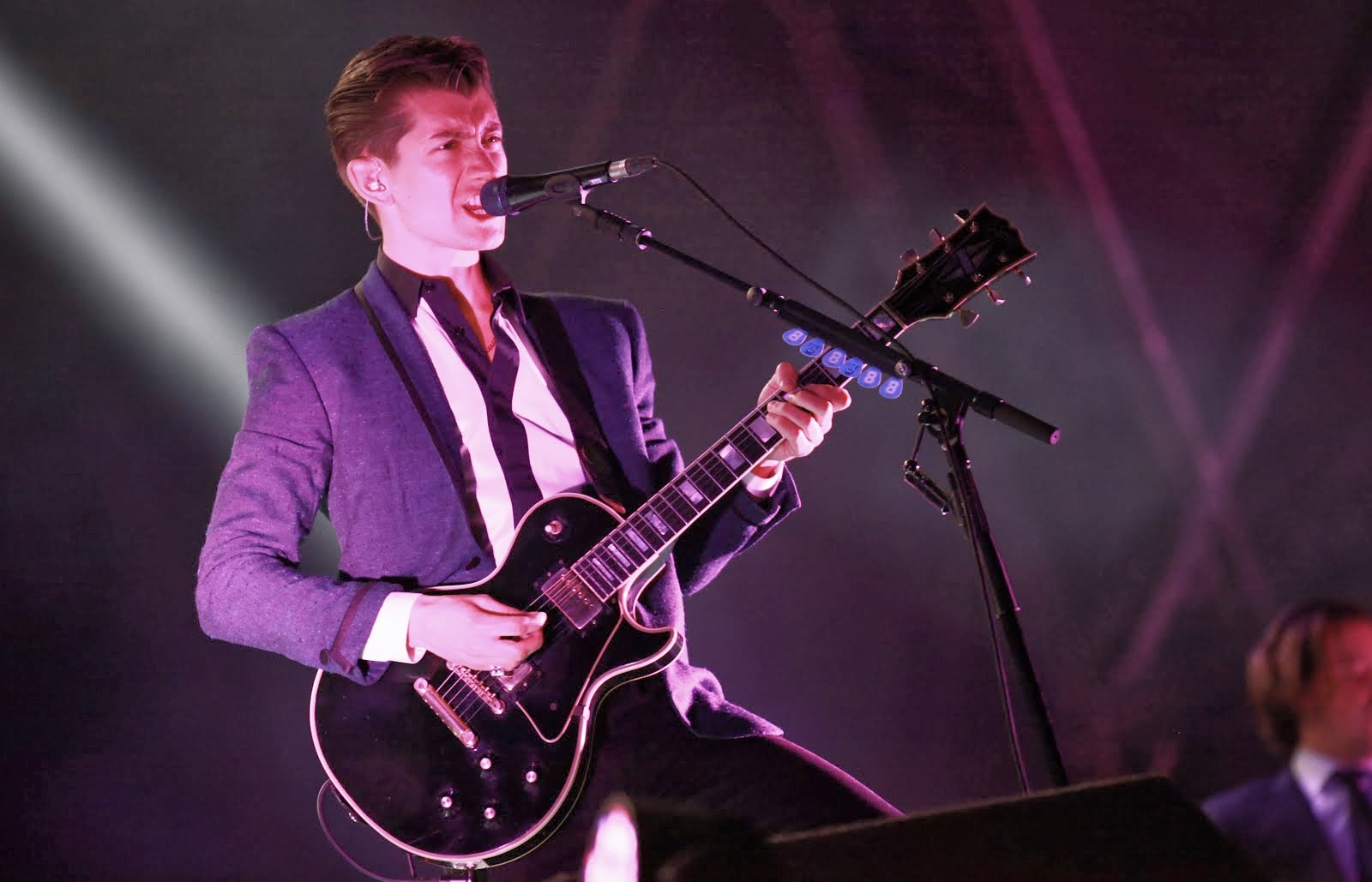 00O00 Menswear Blog: Alex Turner in Saint Laurent Stagewear -  The Electric Picnic festival, Dublin