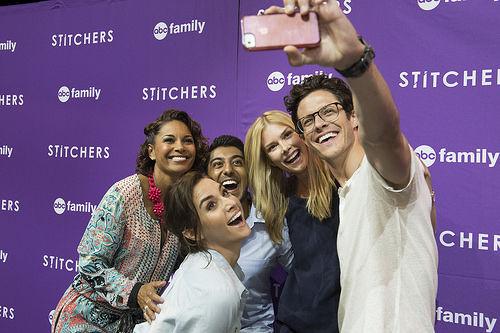 Stitchers actors Emma Ishta, Kyle Harris, Ritesh Rajan, Salli Richardson-Whitfield and Allison Scagliotti at the D23 expo 2015