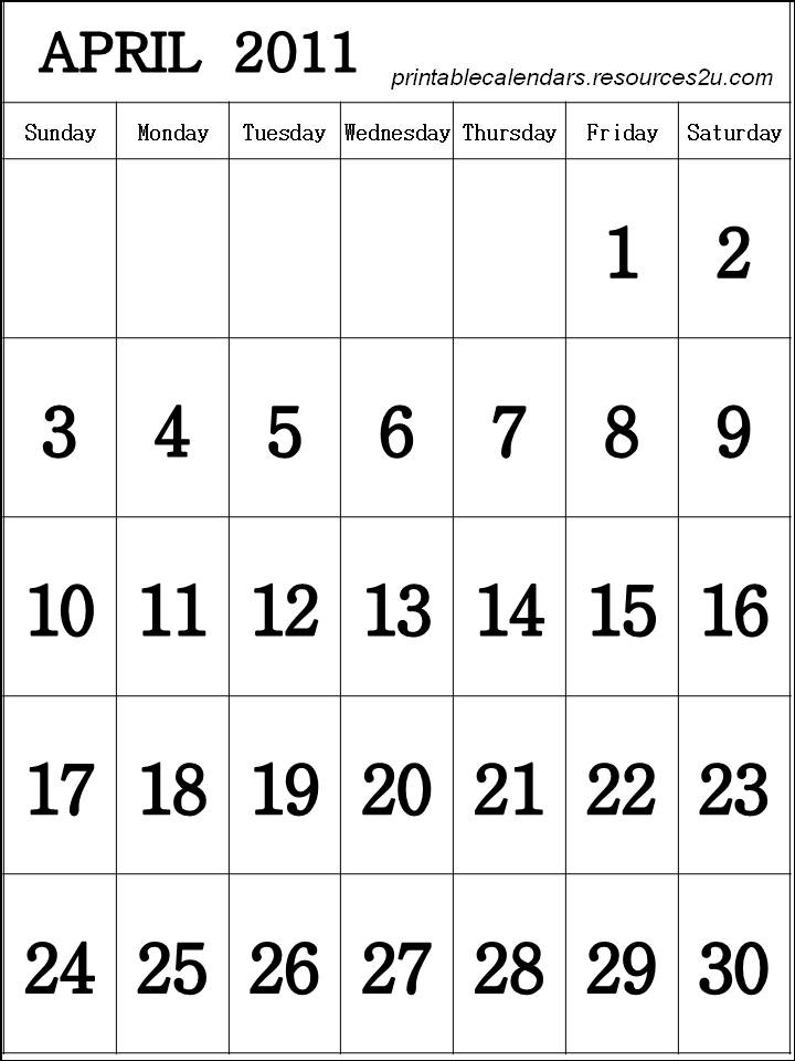 calendar 2011 printable. Free template Calendar 2011
