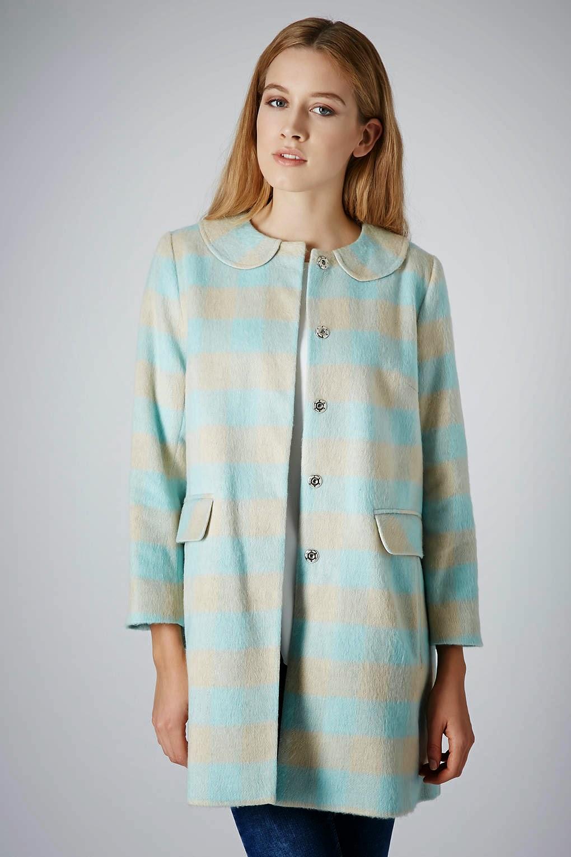 mint and grey coat