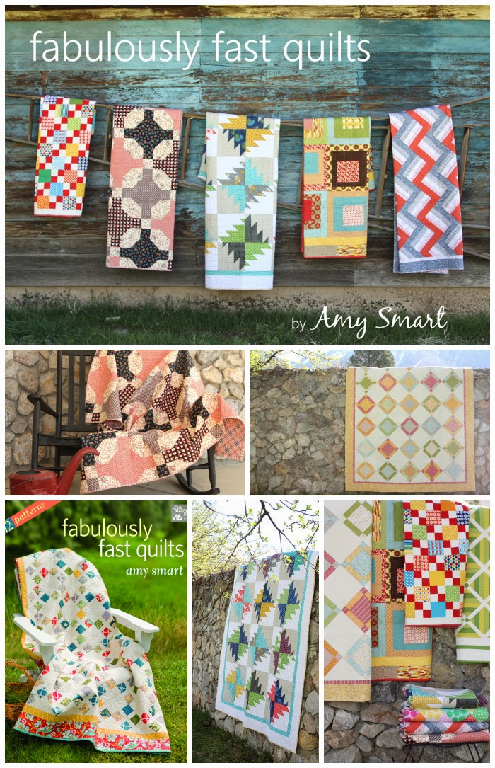 Quilts and patterns from book Fabulously Fast Quilts