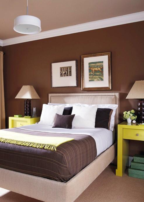 Dormitorios en chocolate y blanco ideas para decorar - Colores paredes dormitorios ...