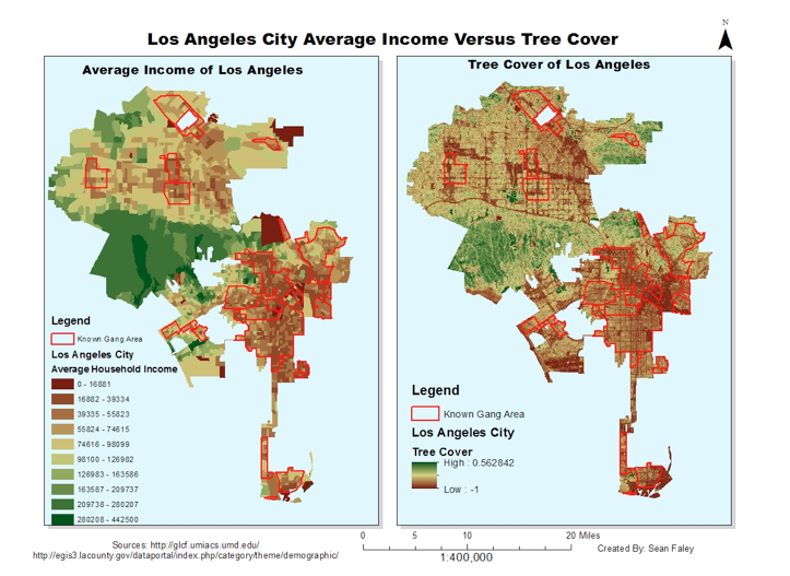 Worksheet. Los Angeles Map By Income