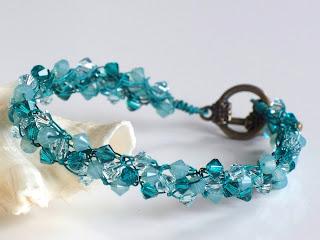 Cool Breeze Wire Crochet Braidlet, Earrings Set