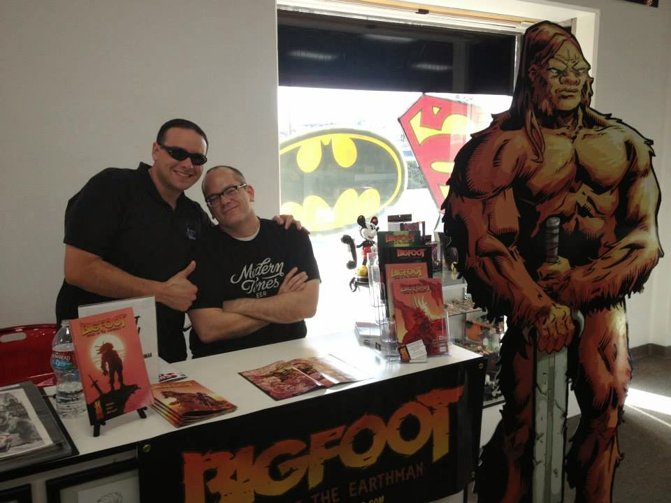 bigfoot sword of the earthman bigfoot comic book phat collectibles signing bigfoot graphic novel barbarian comic