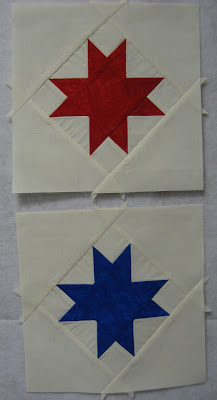 Star quilt blocks for Moda's Just One Star