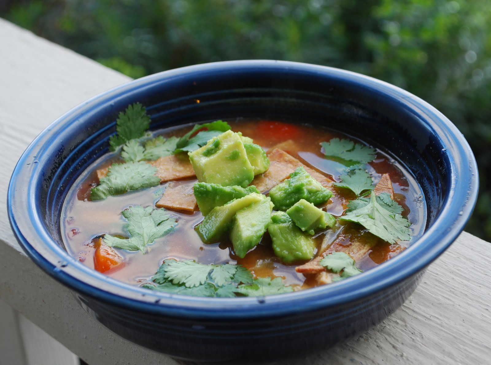 Roasted Chicken Tortilla Soup