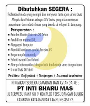 Lowongan Kerja Lampung, Minggu 08 Maret 2015 di Perusahaan Terkemuka.