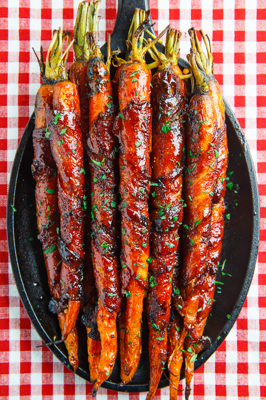 recipe: roasted parsnips and carrots with maple syrup [39]