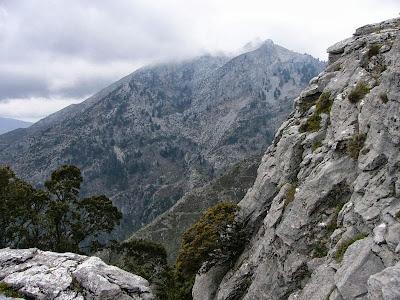 Detalle del relieve de la Sierra de las Nieves