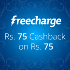 Freecharge Offers Rs.75 Cashback On Rs.75 Recharge