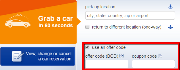 Budget BCD code for 45% discount when you rent a car. Add the promotion code into the BCD box when you are booking your Budget Rent A Car.