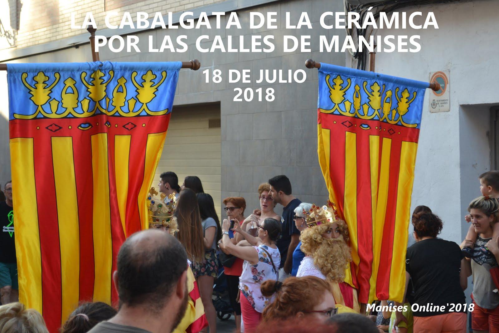 18.07.18 LA CABALGATA DE LA CERÁMICA LLENA LAS CALLES DE MANISES
