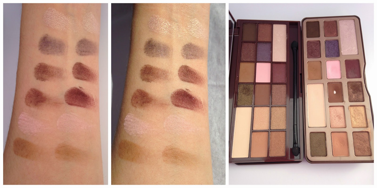 Makeup Revolution I heart Chocolate Palette Swatches