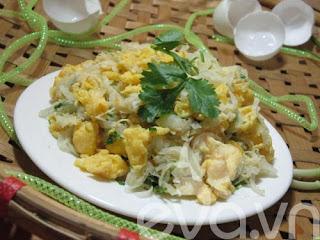 Củ cải xào trứng siêu ngon