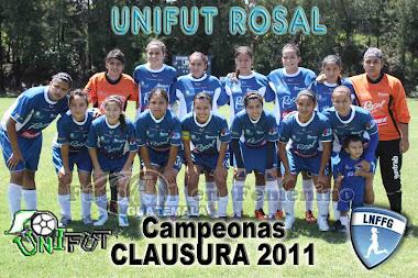 CAMPEONAS DEL CLAUSURA 2011 DEL FUTBOL FEMENINO DE GUATEMALA