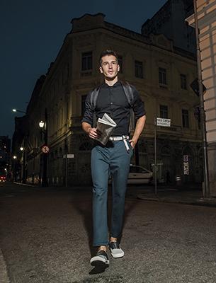 Reserva para C&A look social camisa manga longa e calça