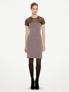 omuz ve göğüs kısmı transparan gri renk elbise,
