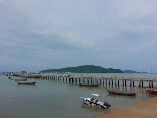 Chalong Bay - long tail boats pier