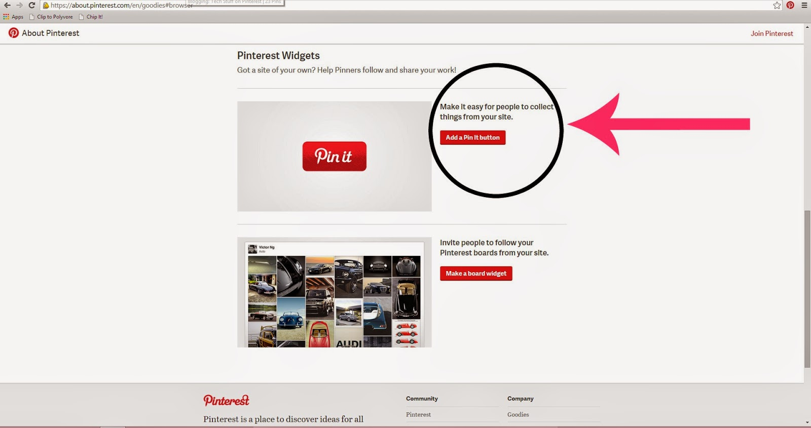 how to add pinterest pin it button