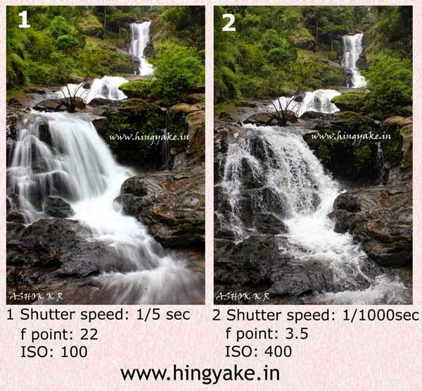 fast vs slow shutter speed