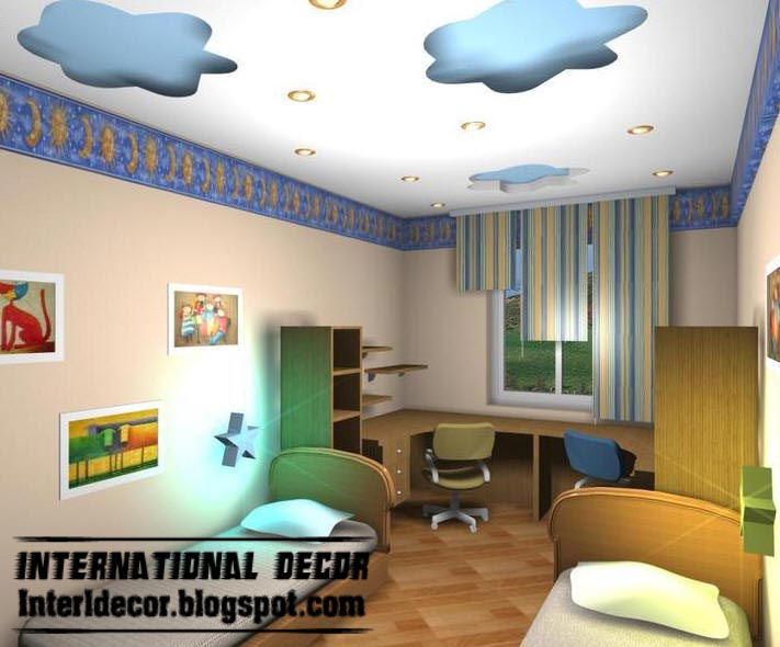 Top catalog of modern false ceiling designs for kids room 2017 for Interior designs for kids