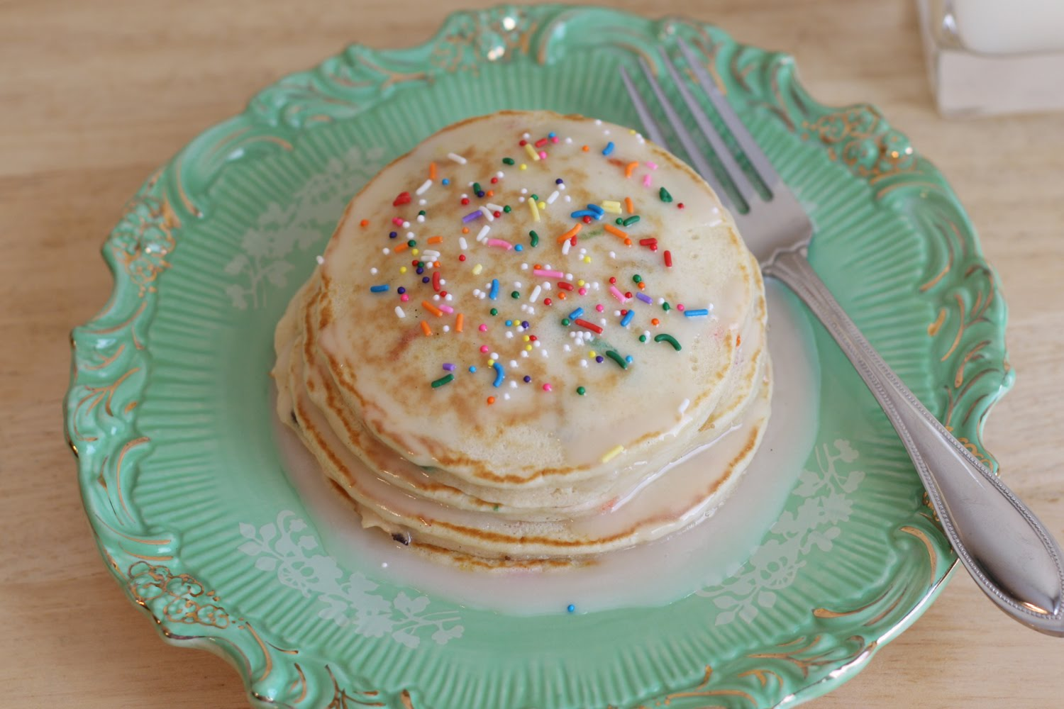 Cake Batter Pancakes Recipe — Dishmaps
