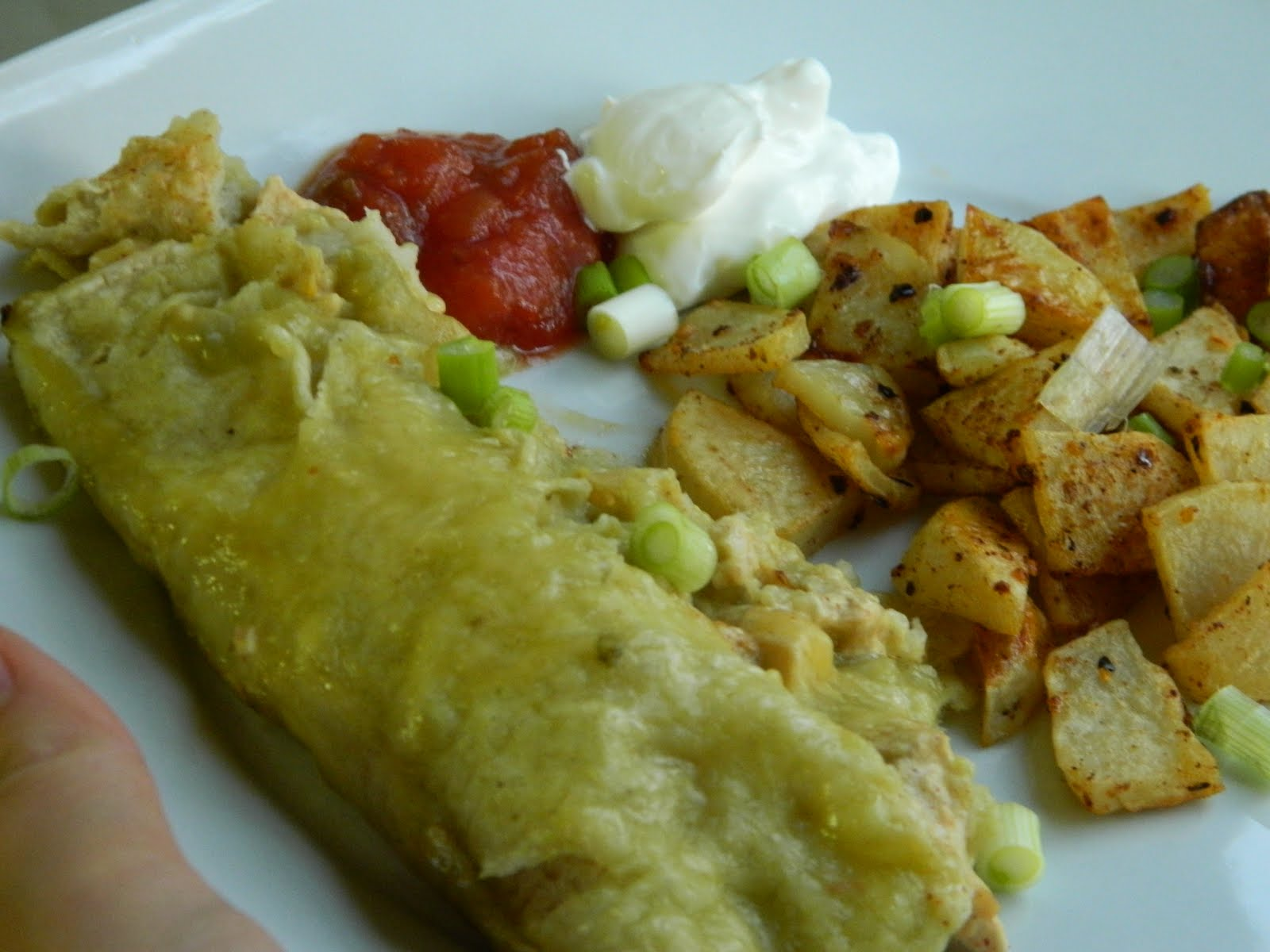 Sewright: Chicken Enchiladas Verdes