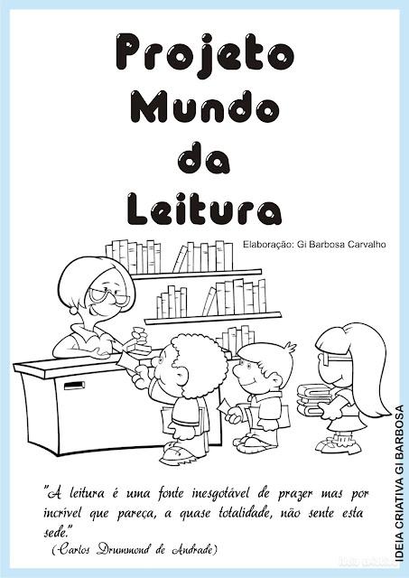 Projeto Mundo da Leitura Ideia Criativa