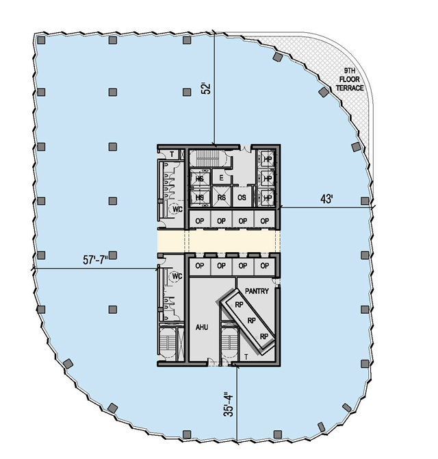 E tower floor plan