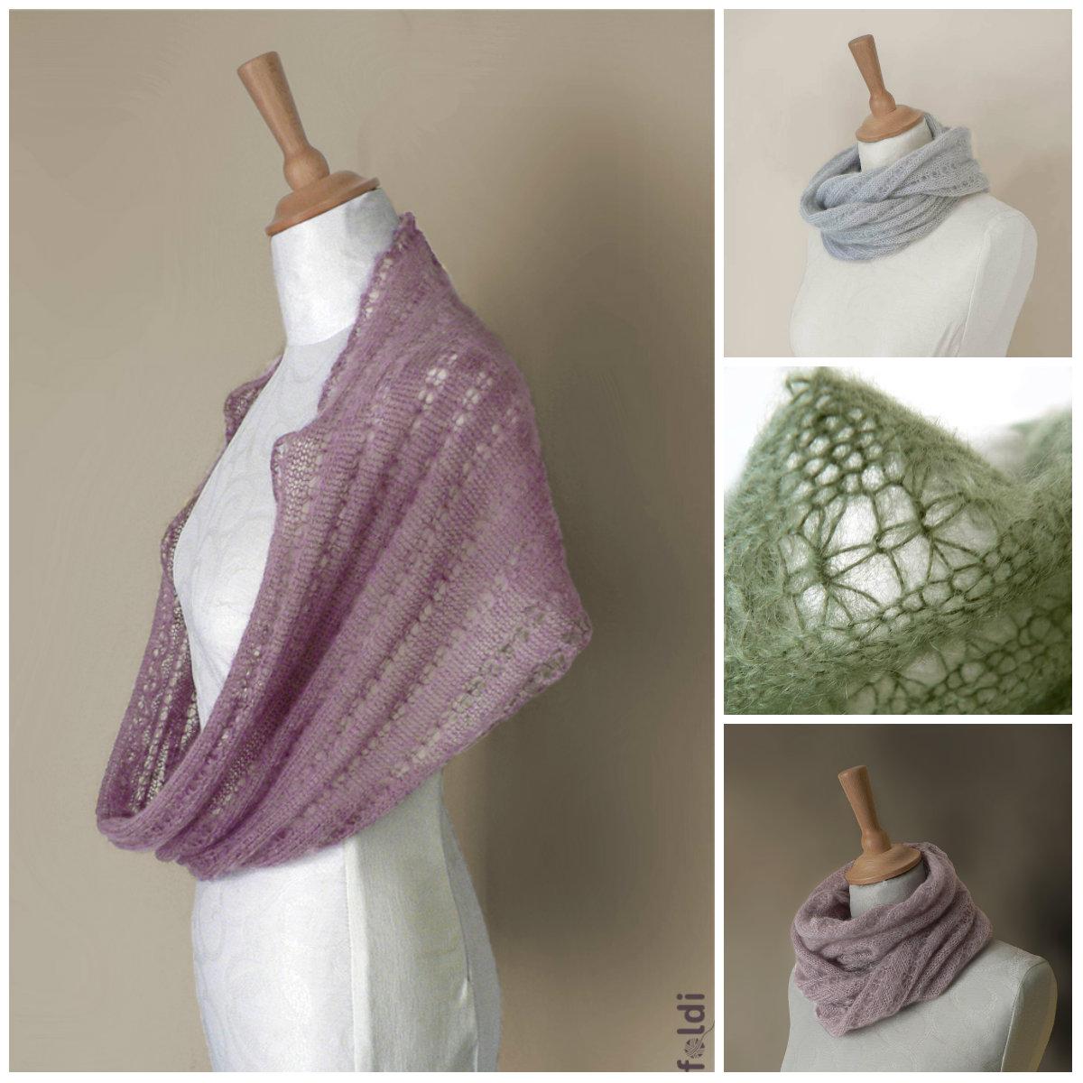 Free Knitting Pattern Mohair Cowl : foldi: Mohair cowl
