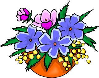 Collection of Flowers in a Vase Free Clipart