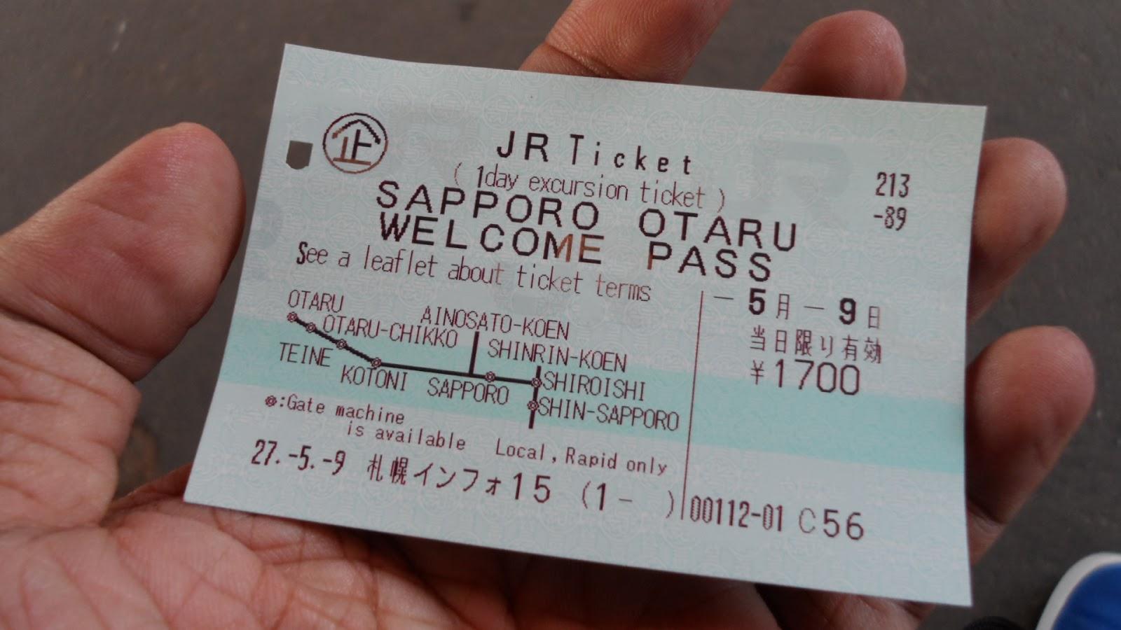 Image result for ตั๋วรถไฟ ฮอกไกโด
