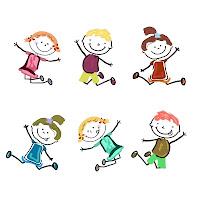 dibujos de niños moviendose