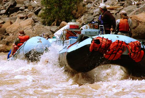 Running Rapids on the Colorado River