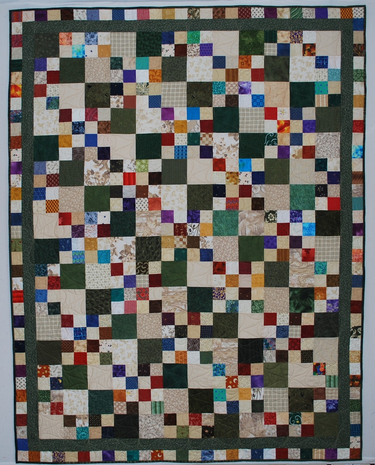 Double Nickel Quilts Nickel Double Four Patch Quilt