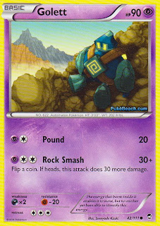 Golett Furious Fists Pokemon Card