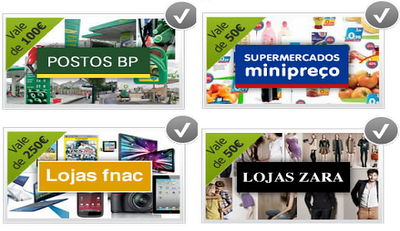 Ganha vale de compras para várias marcas