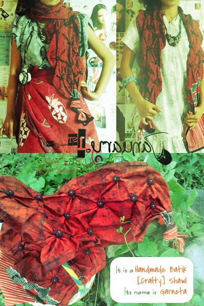 Handmade Batik Shawl, Syal Batik Tulis