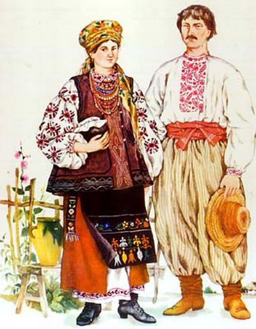Украинские национальные костюмы для зимы картинки