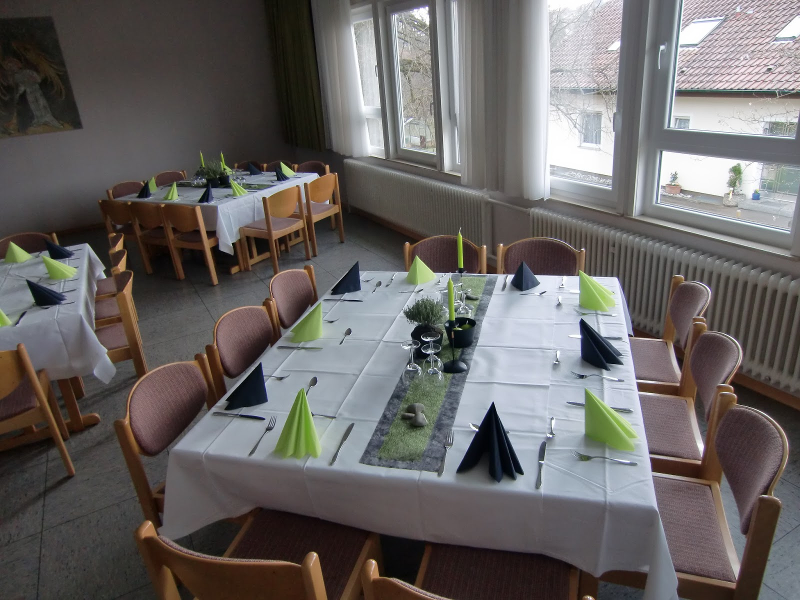 Meine Schönsachen: Tischdekoration Konfirmation