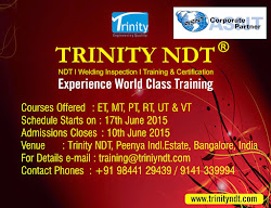 NDT Level II Training from 17 Jun'15 at Bangalore, India - world class training Click on Image