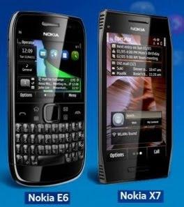 Nokia E6 Nokia X7 Symbian Anna OS Phone