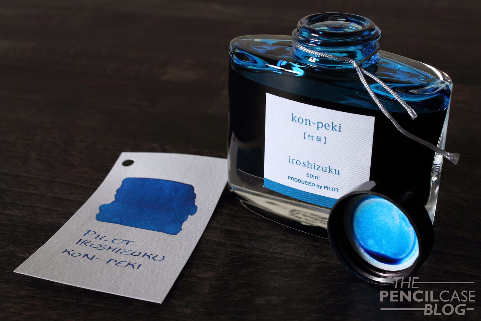 Pilot Iroshizuku Kon-Peki Ink and swab