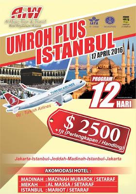 Biaya Paket Umroh Plus Turki  April 2016 (ISTANBUL)