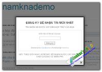 Tạo hộp đăng ký nhận tin dạng Popup cho blogger - Make a Pop-up Subscribe Form Like Aweber