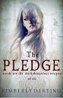 Paperback book cover of The Pledge by Kimberley Derting